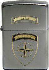 Original Zippo Sturmfeuerzeug ISAF NATO-OTAN, bicolor