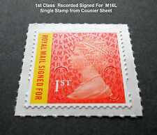 2016 1st CLASS SIGNED FOR M16L MACHIN SINGLE STAMP from Counter Sheet