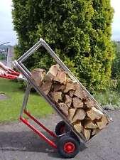 """Kaminholzregal """"Caminos ®"""" und Alu-Stapelkarre im Set - Holzstapelhilfe fahrbar"""