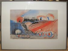 William A. Burns '66 Modernist Landscape WC Listed British & Scottish Abstract