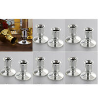 20pcs Plastic Candlestick Holders Pillar Candle Base Taper Candle Silver