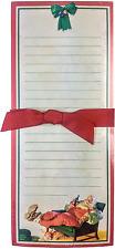 Hallmark Christmas Memo Pad Santa Claus COCA COLA 75 Sheets Holiday Decorations