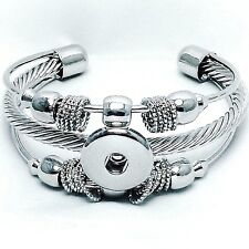 Fits Ginger Snaps SNAP SILVER BRACELET Interchangeable JEWELRY BUTTON 18mm/20mm
