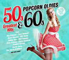 CD Popcorn Oldies 50s and 60s Greatest Hits von Various Artists    3CDs