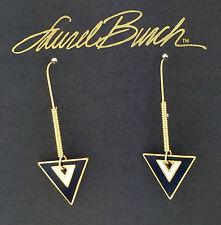 NEW! Laurel Burch ARROWS Gold Cloisonné Retired Earrings