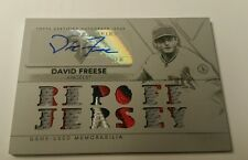 2015 Triple Threads DAVID FREESE WHITE WHALE 4 CLR AUTO PATCH #1/1!