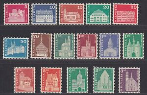 Switzerland Scott 440-455 XF MNH 1964-1968 Architecture Issue SCV $26.45