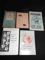 COLLECTION OF VINTAGE COOK BOOKS ~ VARIOUS RECIPES & HOUSEHOLD HINTS.