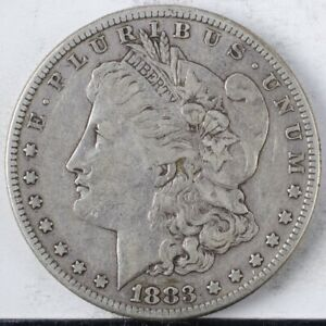 1883 S Morgan Dollar VF ++