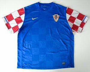 mens retro vintage CROATIA blue away football shirt 2010 - 2012 XXL nike RARE
