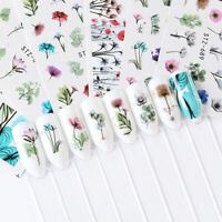 24 Sheets Chic Nail Art Water Decals Stickers Transfers Flower Sunflower Decor