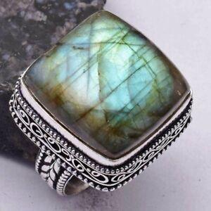 Labradorite Ethnic Handmade Antique Design Ring Jewelry US Size-9 AR 41708