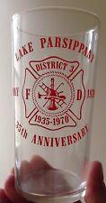 1935 - 1970 LAKE PARSIPPANY FIRE DEPARTMENT GLASS, PARSIPPANY, NJ, VINTAGE