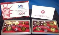 2001 United States Silver Proof Coin Set - US Mint Official