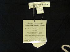 NEW XLT XL TALL XT V-NECK Cypress Links Tall Man Sweater VEST Solid BLACK $60