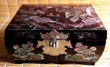Jewelry Trinket Box China Mother of pearl Nacre Birds Crane Design