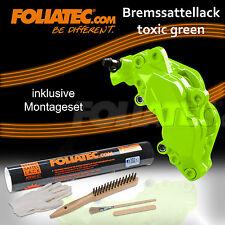 FOLIATEC BREMSSATTEL LACK SET TOXIC GREEN GRÜN 2177 + BREMSSATTEL MONTAGE SET