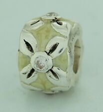 NB-1A Authentic Chamilia Retired Spring Bouquet Enamel Sterling CZ Bead