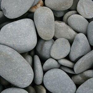 (0,88€/kg) Beach Pebbles rund 30/60mm | 1100kg Gitterkorb Teichkies | frachtfrei