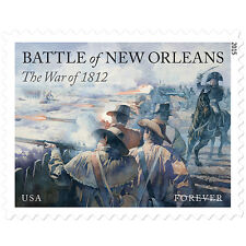 USPS New The War of 1812: Battle of New Orleans Forever Stamp Sheet of 20