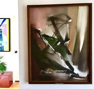 """28x36"""" Chasms Of Distraction Original Oil Painting By Dorothe A Head 1922-2001"""
