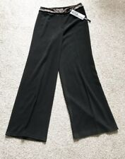 Ladies M&S AUTOGRAPH Black Trousers with lace and velvet trim. Size 8. BNWT