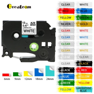 Compatible Brother TZ Tze Label Tape Printer P-Touch Laminated 18mm/12mm/9mm 8m.