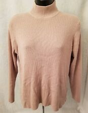 Worthington Womens Petite Brown Ribbed Mock Neck Shirt Top Size XL