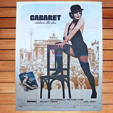 AFFICHE CINEMA 120X160CM CABARET ADIEU BERLIN FRENCH POSTER BOB FOSSE