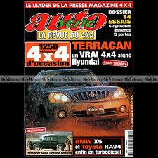 AUTO VERTE N°239 HYUNDAI TERRACAN MOBILIS BMW X5 TOYOTA RAV4 LEXUS RX 300 2001