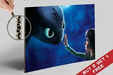 HOW TO TRAIN YOUR DRAGON 2 A4 POSTER Toothless and Hiccup Gift For Kids Children