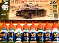 AK Interactive MERDC Camouflage Colours Acrylic Paint Set For Models