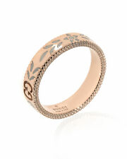 Gucci 18k Rose Gold Icon Ring Sz 7.25 YBC434541002015