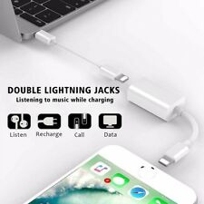 IPhone 7Plus 2 en 1 Adaptador Divisor Doble Lightning Audio Auriculares Cargador