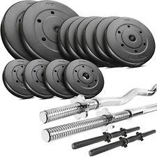 Trex Hantelset 60kg Set Stange Hantel Gewichte Lang-, Curl- & Kurzhantel