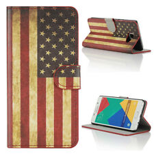 Case For Samsung Galaxy A5 (2016) PU Leather Wallet Book Cover US Flag Old Glory