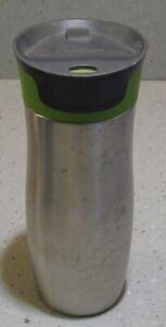 contigo auto seal travel mug Stainless steel Green and Grey top   (J001)