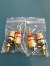 4X Amplifier Speaker Terminal Binding Post Banana Plug Connector Gold Plated