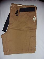 SONOMA LIFE/STYLE, BIG & TALL, 6 POCKET CARGO SHORTS, DARK TAN, SIZE: 46, NWTS