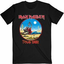 IRON MAIDEN The Beast Tames Texas Tour 1982 T-SHIRT OFFICIAL MERCHANDISE