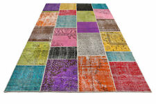 CUSTOM multicolor  vintage Overdyed Handmade Turkish Patchwork Carpet rug
