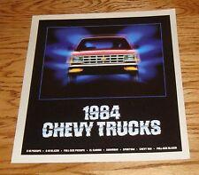 Original 1984 Chevrolet Truck Full Line Sales Brochure 84 Chevy El Camino Blazer