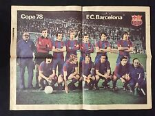 POSTER F.C.BARCELONA BARÇA DIARIO EL CORREO CATALAN COPA 1978 CRUYFF MUNDIAL 78