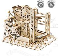 ROKR 3D Wooden Puzzle Lift Coaster Mechanical Gears Set Model Kit Marble Run Set