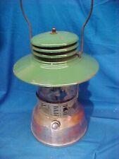 1920s MONTGOMERY WARD Camp LANTERN Green Porcelain BRASS FONT