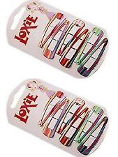 Pack De 6 A Rayas Multicolor De Colores rectángulo Snap Pinza de pelo de diapositivas