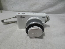 NIKON 1 J1 White Digital Camera (D33697) with Nikkor VR 10-30mm Lens NICE