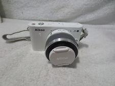 NIKON 1 J1 White Digital Camera (D33697) with Nikkor VR 10-30mm Lens NICE