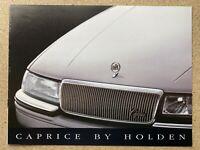 1990 Holden Caprice original Australian sales brochure (8P - 2)