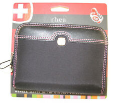 New Wenger 'Rhea' Small GPS Case  -  Black/Pink Stitching - New with Tags